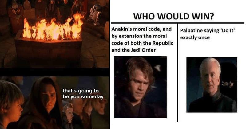 Funny STar Wars prequel memes.