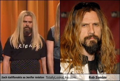 totally looks like zach galifinakis Rob Zombie funny