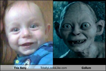 Babies gollum totally looks like funny - 7429091840
