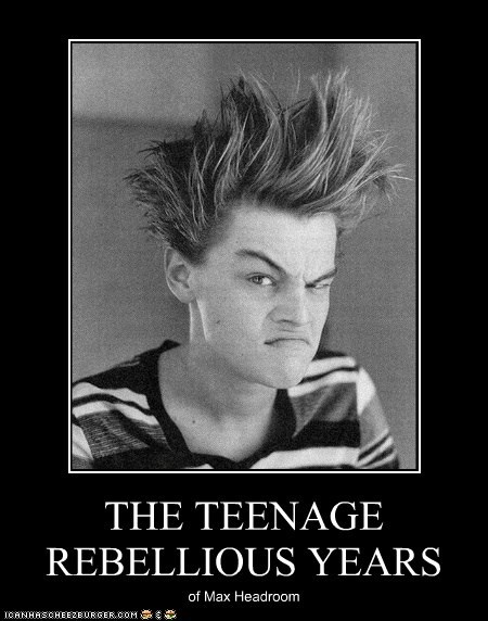 THE TEENAGE REBELLIOUS YEARS