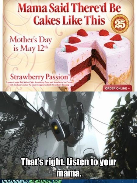 cake,valve,mothers day,Portal,funny
