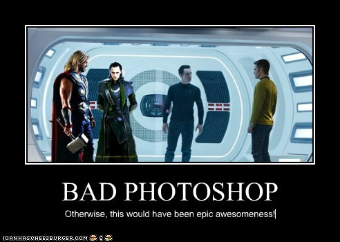 BAD PHOTOSHOP Otherwise, this would have been epic awesomeness!