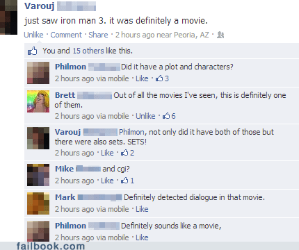 robert downey jr,movies,tony stark,iron man 3,funny,failbook,g rated