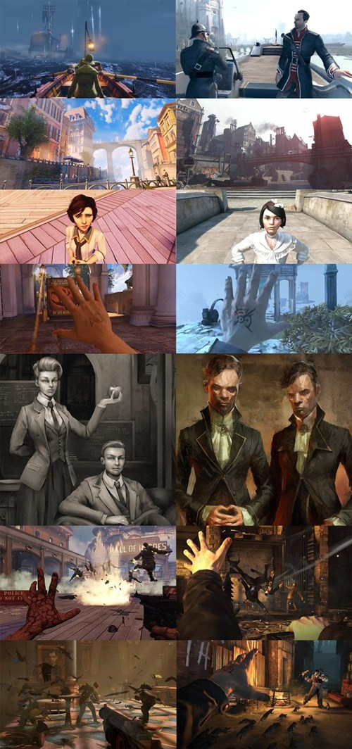 bioshock infinite,gaming,similarities,dishonored