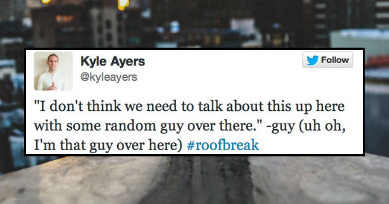 guy live tweets about breakup he's witnessing