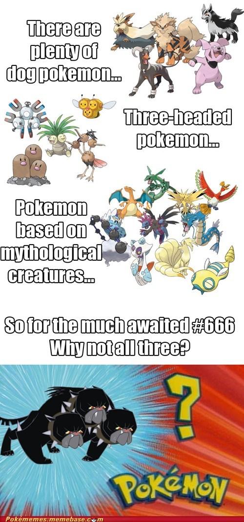 dogs Pokémon cerberus 666 - 7431853568