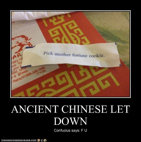 ANCIENT CHINESE LET DOWN