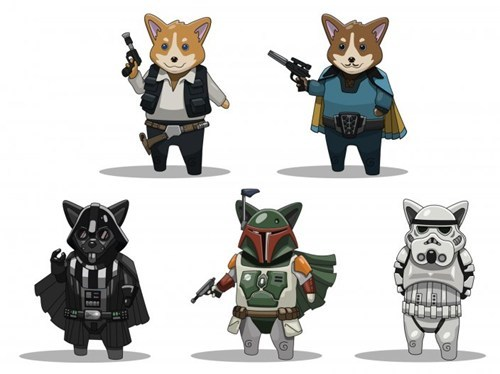 star wars,corgis