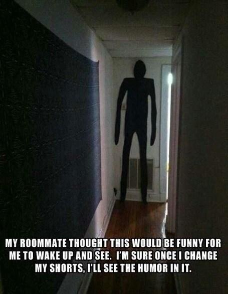 roommate pranks roommates slenderman - 7431981824