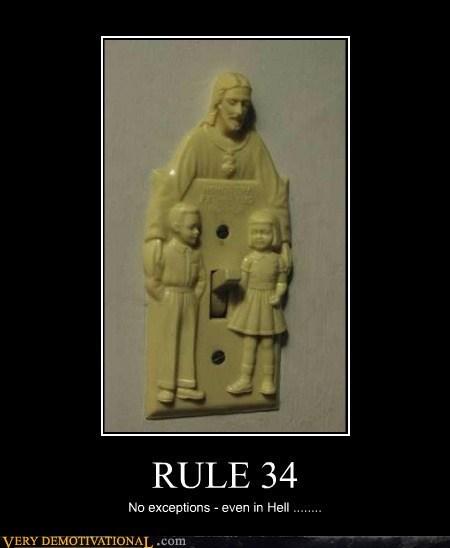 jesus hell 34 rule ticket funny - 7432257280