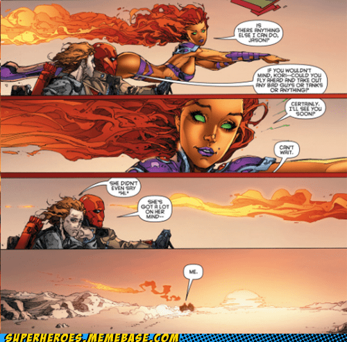red hood,off the page,jason,starfire,funny