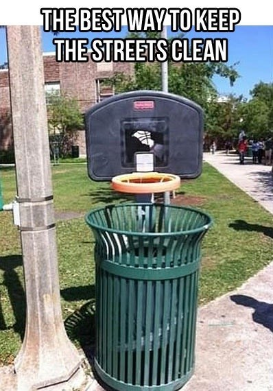 trash cans,IRL,basketball