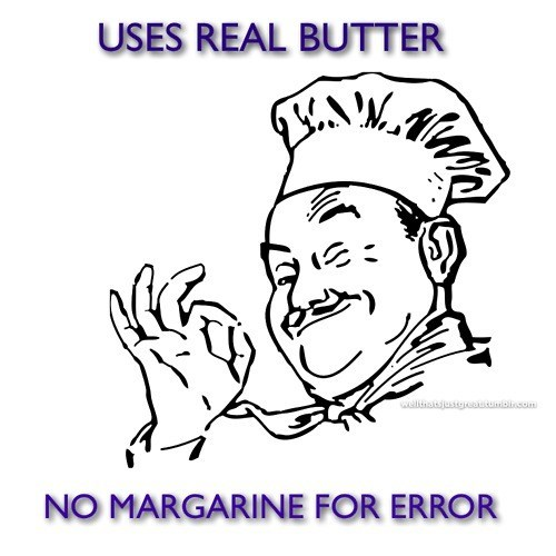 error butter margarine chef - 7432550912