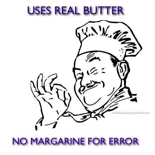 error butter margarine chef - 7432550912