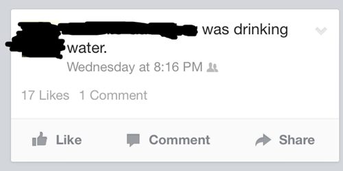 big news,important status,drinking water