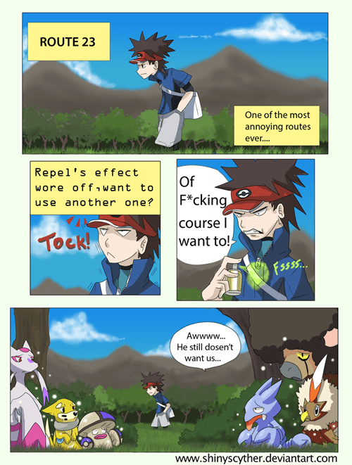 shinies,comics,repel,funny