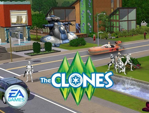 star wars nooooooooooo EA The Sims - 7432632064