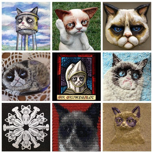 Fan Art of the Day: The Grumpy Cat Art Projet