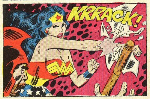 wonder woman,off the page,punch,axe