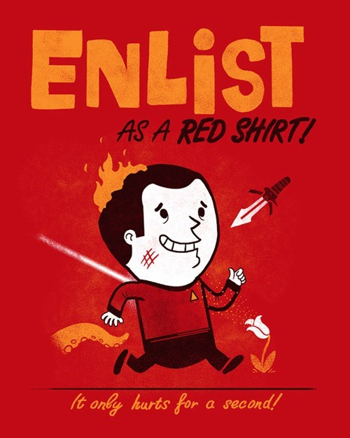 red shirt Star Trek - 7432812800