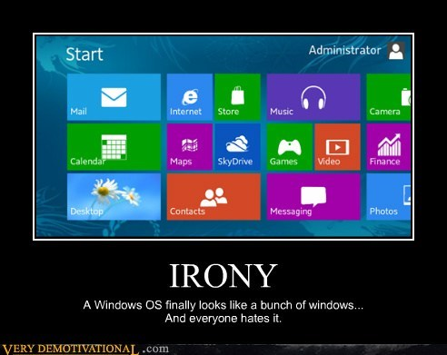 windows irony funny