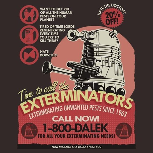 T.Shirt daleks nerdgasm doctor who - 7433203200
