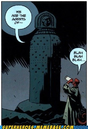 ancient,agents,off the page,hellboy,funny