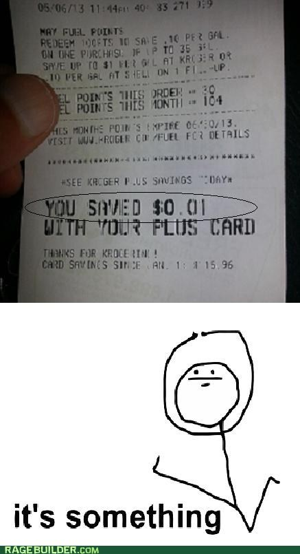 gas prices it's something funny savings receipt - 7434480128