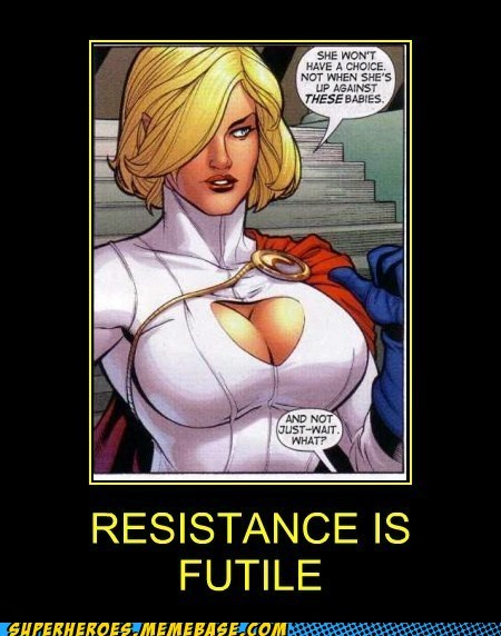 wtf power girl bewbs funny - 7434636544