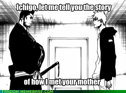 bleach,how i met your mother,anime,funny