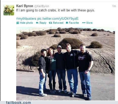 crabs,deadliest catch,kari byron,discovery channel,mythbusters,failbook