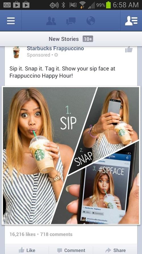 starbucks wat r u doign,frappucino,Starbucks,starbucks stahp,duckface,sipface,funny