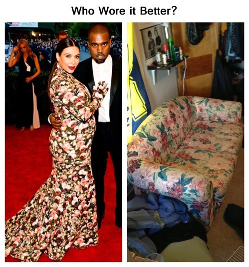 who wore it better Kim Kardashain sofa - 7435014656