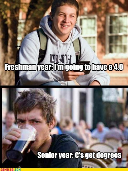 school seniors grades freshman colleges funny - 7435172608