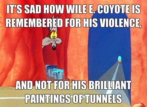 art,cartoons,wile e coyote