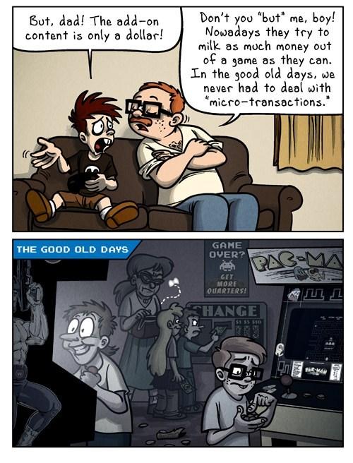 microtransactions,nostalgia,arcades,comics,funny