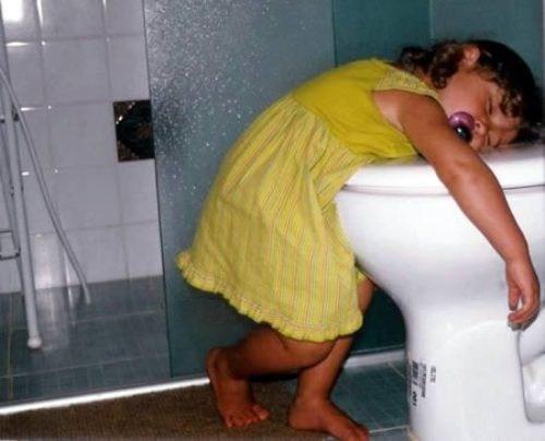 apple juice nap time bathroom toilet sleeping - 7435461120
