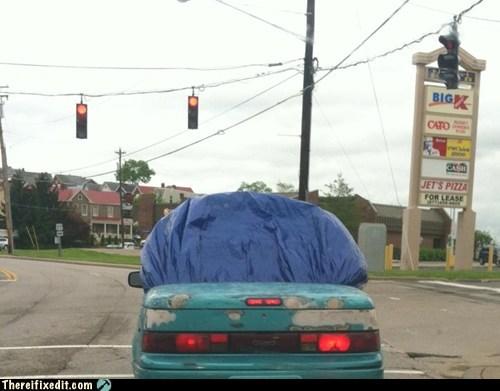convertible,tarp,funny