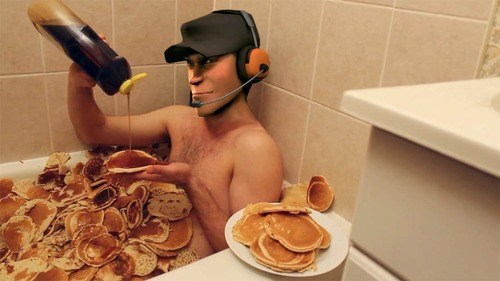 syrup wtf Team Fortress 2 scout pancakes funny - 7435598336