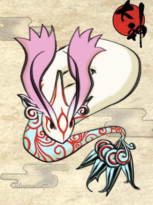 crossover Pokémon okamiden Fan Art - 7435638016