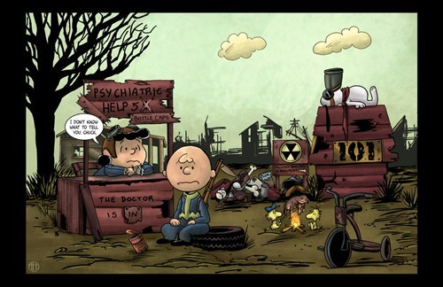 crossover fallout mashups charlie brown funny - 7435644160