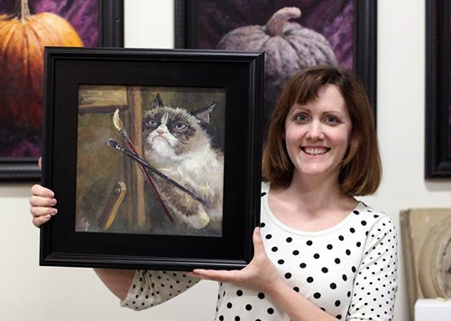 Grumpy Cat,art,awesome,grumpy cat art project