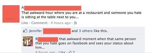 that awkward moment restaurant people you hate funny - 7435718656