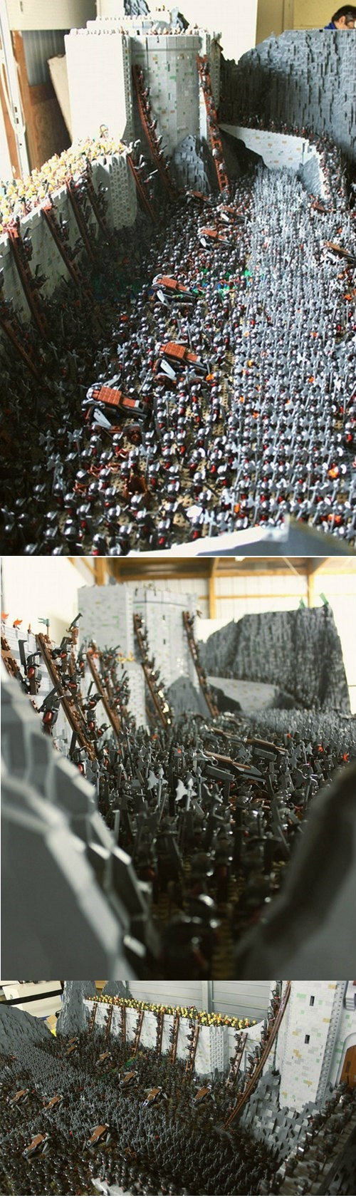 This LEGO Helm's Deep Model Will Make Your Nerdy Parts All Bothered