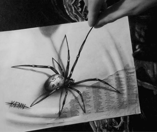 spiders art design illusion - 7435857408