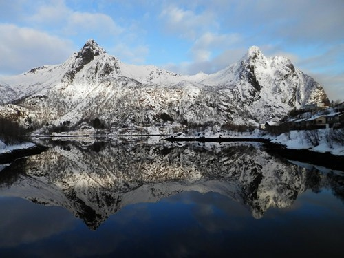 Norway reflection mountains