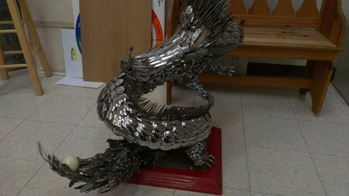 dragon,design,silverware,funny