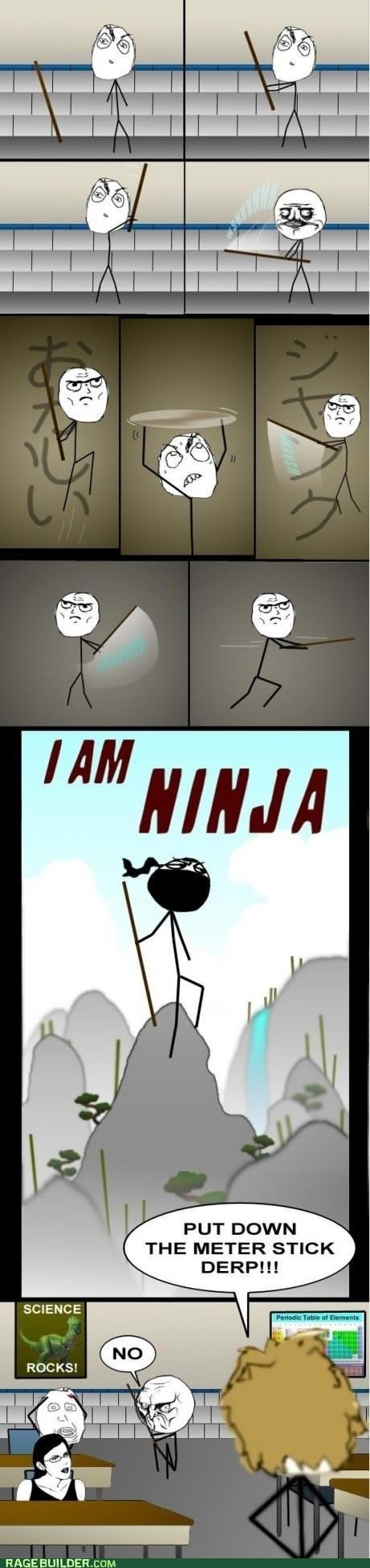 samurai school me gusta ninjas nunchuks funny truancy story yardsticks - 7435954688