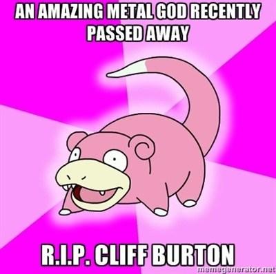 Cliff Burton Jeff Hanneman slayer slowpoke - 7436038912