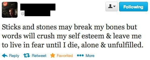 self esteem,broken bones,insults,sticks and stones,funny